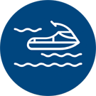 Jetski icon for Mermaid Cove RV Resort and Marina In Lake of the Ozarks